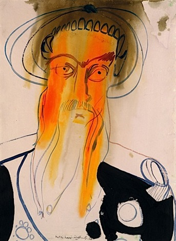 portrait dhomme by rokni haerizadeh