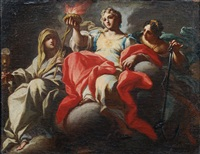 the three christian virtues by sebastiano conca