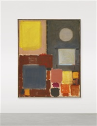 grey and yellow (with circle): october - february by patrick heron