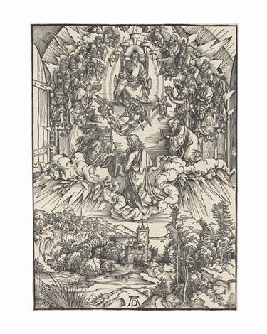 saint john before god and the elders, from: the apocalypse by albrecht dürer