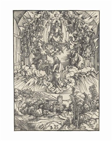 saint john before god and the elders from the apocalypse by albrecht dürer