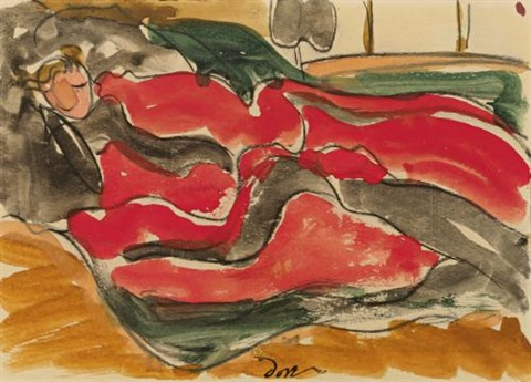 woman asleep by arthur dove