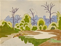 sunlit willows by charles ephraim burchfield