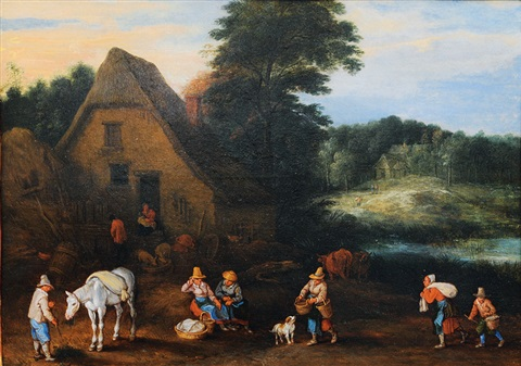 landscape with farmhouse by pieter brueghel the younger