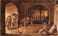 intérieur de ferme à saint-jean-de-toulas (rhône) by jean-jacques de boissieu