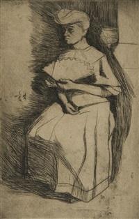 signora con ventaglio (lady with a fan) by umberto boccioni