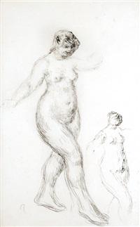 studie ženského aktu by pierre-auguste renoir
