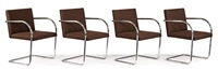 brno armchairs (8) (model 255cs) by ludwig mies van der rohe