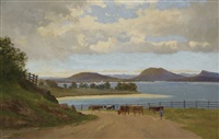the derwent from brown's river road by william charles piguenit