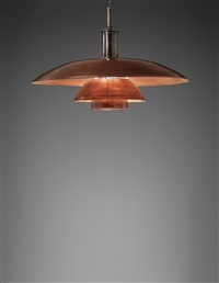 early and large ceiling light, type 8/6 shades by poul henningsen