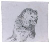 etude de léopard by eugène delacroix