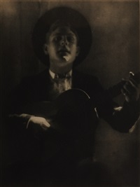 guitar player of seville by adolph de meyer