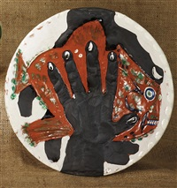 mains au poisson (hands with fish) by pablo picasso