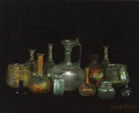still life with cyprus glasses by henry alexander