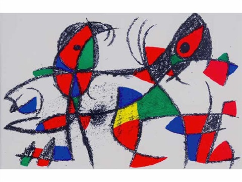 composition by joan miró