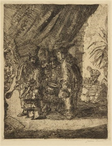 iston pouffamatus cracozie and transmouff famous persian physicians examining the stools of king darius after the battle of arbela by james ensor