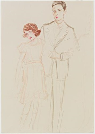 princess elizabeth and her father by elizabeth peyton