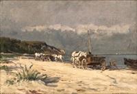 flunderverkäufer am strand by eugen felix prosper bracht