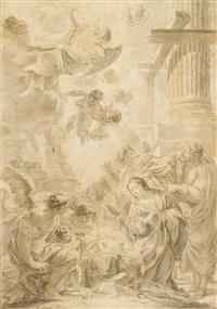 nativity by simon vouet
