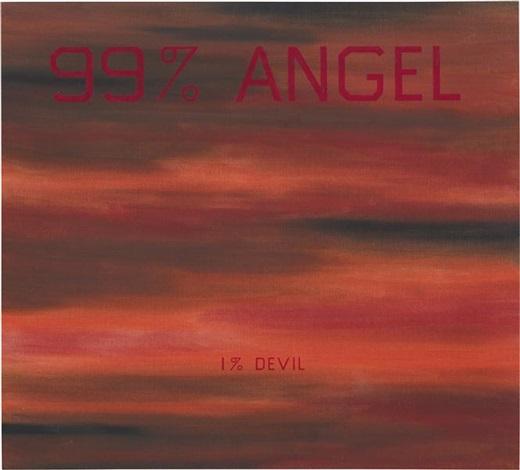 99 angel 1 devil by ed ruscha