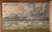 mer sous un ciel orageux by henri arden