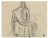 studi per il monumento alla madre italiana in santa croce (3 works) by libero andreotti