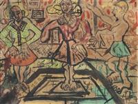 tres personajes by raúl javiel (cabrerita) cabrera