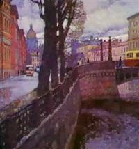 le quai de la moika a st. petersbourg by nikolai galakhov