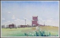 grain elevator at la salle, manitoba by walter joseph phillips
