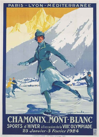 chamonix mont blanc viiie olympiade 1924 by roger soubie
