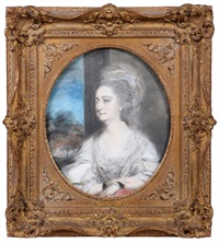a study for the portrait of lady derby by thomas gainsborough