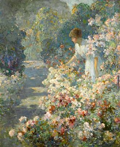 morning in the garden by abbott fuller graves
