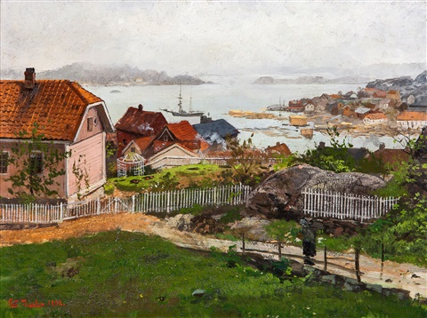 fra kragerø by frits thaulow