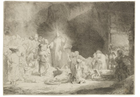 the hundred guilder print christ healing the sick by rembrandt van rijn