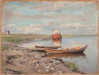 paysage à la rivière by nikolai alexandrovich klodt