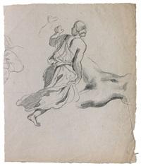 femme habillée à l'antique et nu féminin by eugène delacroix