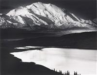 mount mckinley and wonder lake, mount mckinley national park, alaska by ansel adams