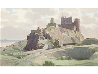 bamburgh castle by leonard russel squirrell