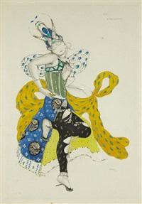 projet de costume pour le ballet la peri by leon bakst