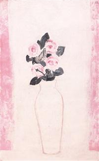 roses in a white vase (bouquet de roses dans un vase blanc) by sanyu