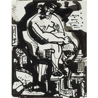 seated nude by hans hofmann