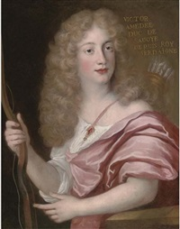 portrait of victor amedee, duke of savoy, dressed as apollo by john baptist gaspars