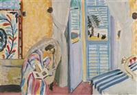 interiéur à nice, femme assise avec un livre by henri matisse