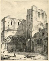 entrée du saint sépulcre jérusalem by louis jaques mandé daguerre