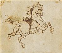 étude de cheval cabré by théodore géricault