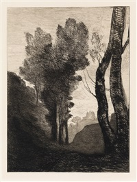 environs de rome by jean-baptiste-camille corot