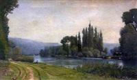paysage fluvial by henri saint-bie