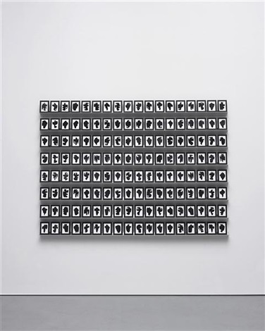 the shapes project, collection of one hundred and forty-four monoprints (144 works) by allan mccollum