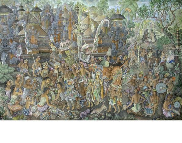 ceremony in bali by anak agung gde raka puja