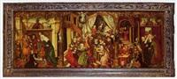 trois scènes de la vie de la vierge by german school-augsburg (16)